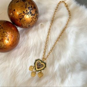 5/$25 Gold Rock and Shell Embellished Necklace